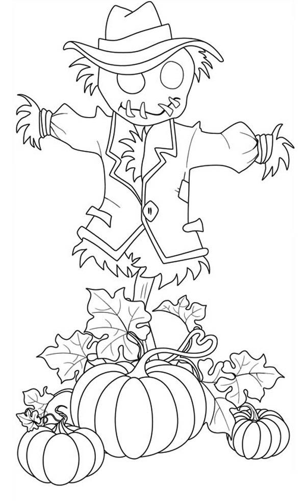 scarecrow coloring pages autumn - photo#25
