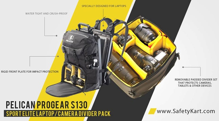 The Legendary S130 Camera Backpack!. Comes with a laptop Hardcasing and a Camera Casing. Water resistant, Impact Proof, and Guaranteed for Lifetime from Pelican. @Pelican Products #Camerabackpack #Photography