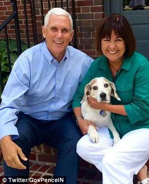 Pence and his wife Karen (pictured) have stayed together for more than 31 years after they met in church. Vote Trump Pence 2016. #MakeAmericaGreatAgain
