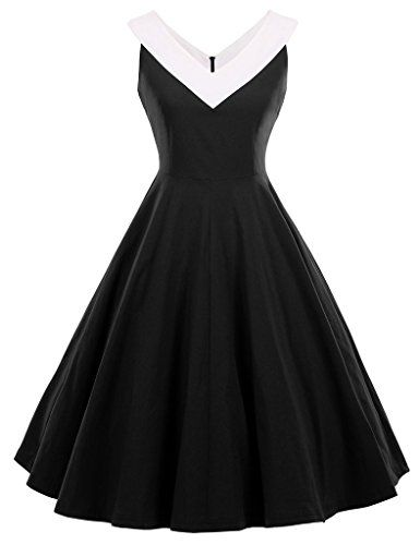GownTown Womens 1950s Vintage Dress V-Neck Dresses Swing ...  https://www.amazon.com/gp/product/B01FQTBJCW/ref=as_li_qf_sp_asin_il_tl?ie=UTF8&tag=rockaclothsto-20&camp=1789&creative=9325&linkCode=as2&creativeASIN=B01FQTBJCW&linkId=6ffdcd03c5d36458527cac2d2cb730c8