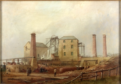 Hair, Thomas Harrison b. c. 1810, Newcastle upon Tyne, England; d. 1875; Newcastle upon Tyne  Hartley Colliery After the Disaster, 1869 Oil on canvas, 300 x 500 cm Collection: Shipley Art Gallery