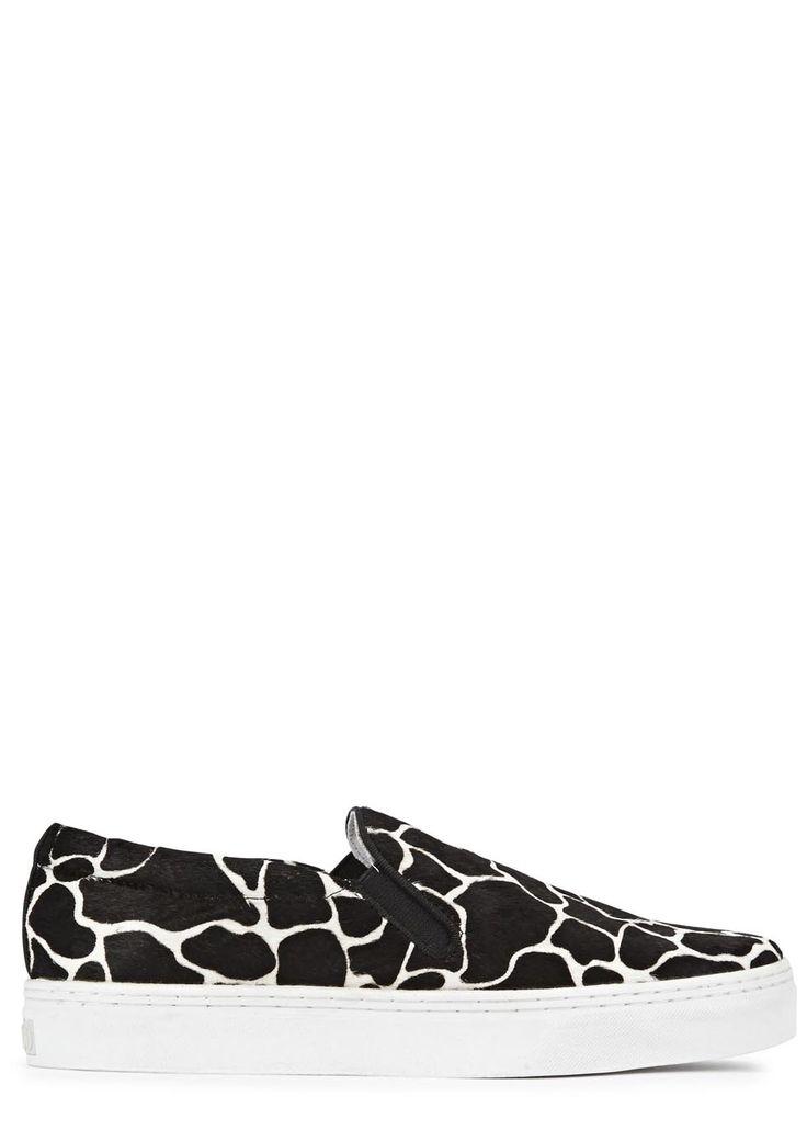 Senso Ava X giraffe print calf hair skate shoes