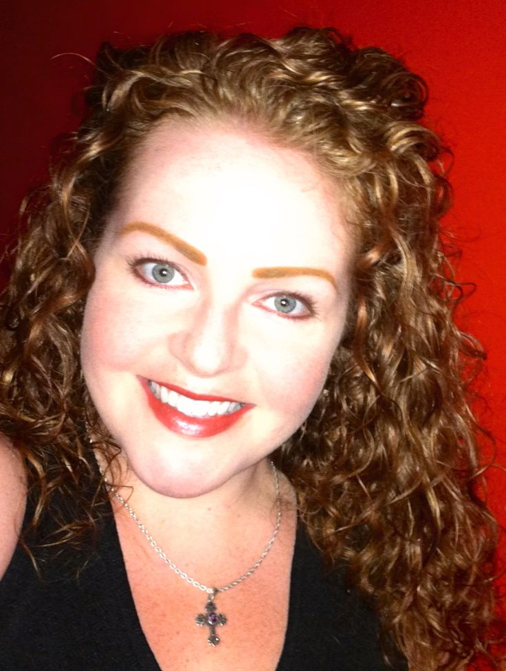 Curly red hair with Shea Moisture shampoo and conditioner & Kinky-Curly original curling custard (found at Target).