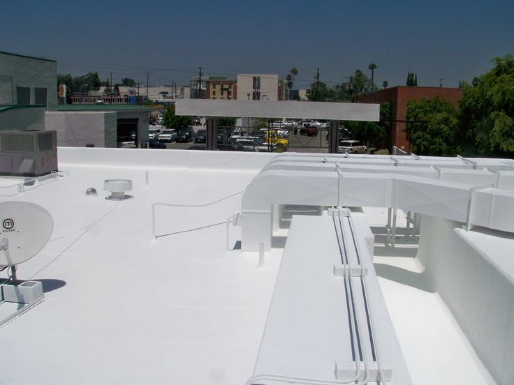 A foam roof project by #AppliedRoofingServices