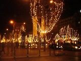 The Champs-Elysées lined with lights