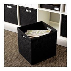 """IKEA - BLADIS, Basket, 12 ½x13 ½x12 ½ """", , Suitable for storing your recipes, receipts, newspaper clippings and photos.Easy to pull out and lift as the basket has handles."""