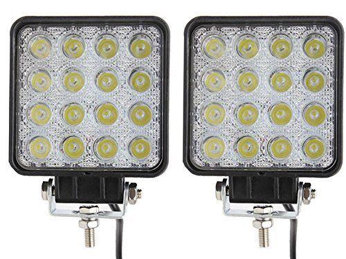 Ukboystar Lot de 2 lampes LED 48W projecteurs spots idéal pour véhicule tout-terrain, chantier, phares anti-brouillard de camion, Jeep,…