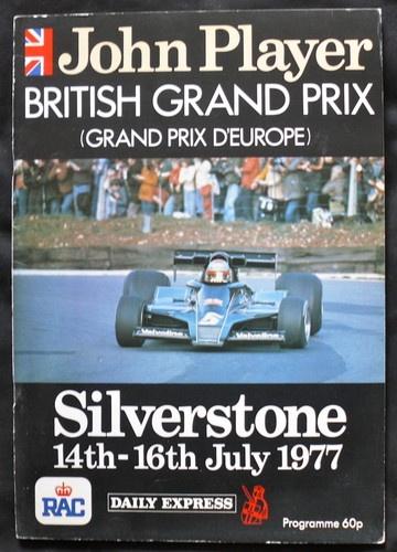 BRITISH GRAND PRIX SILVERSTONE F1 RACE PROGRAMME 1977 | eBay