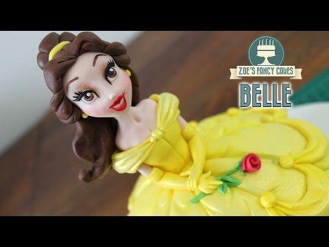 BELLE and the beast cake topper fondant tutorial - la BELLA e la bestia pasta zucchero torta - YouTube