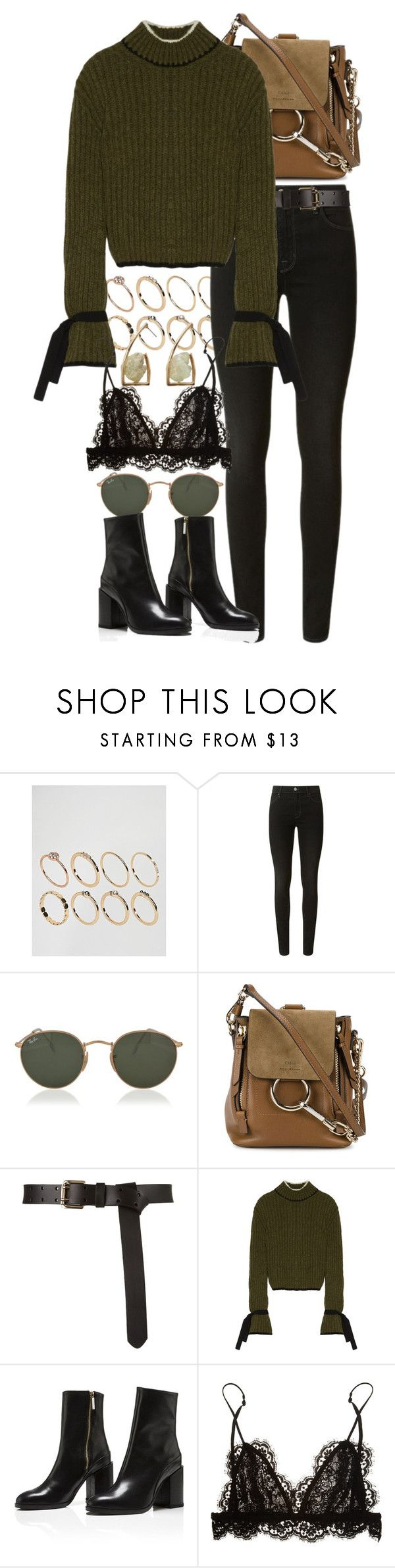 """""""Untitled #10984"""" by nikka-phillips ❤ liked on Polyvore featuring ASOS, J Brand, Ray-Ban, Chloé, J.W. Anderson, Isabel Marant and MANGO"""
