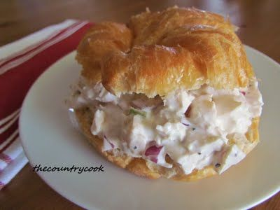 Ingredients:  2 whole chicken breasts (split, bone-in, with skin)  1 tbsp. Lemon Pepper Seasoning  Olive Oil  3/4 cup mayonnaise  1/4 cup sour cream  1 stalk celery, finely chopped  1/2 small red onion, finely diced (about 1/4 cup)  Salt & Pepper, to taste  1 cup red grapes, cut in half (optional)