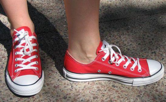 Elizabeth's red Converse shoes