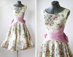 vintage 50s spring garden party dress | Kaboodle