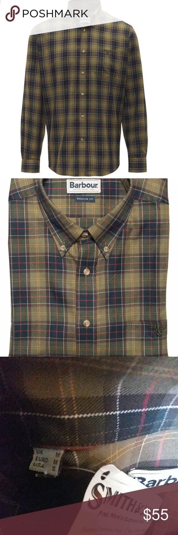 1day Sale Barbour Tartan classic Reg. Fit size S. New with Tags. Awesome shirt :) Barbour Shirts