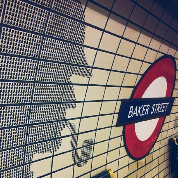 Baker Street, London's Sherlock Holmes-themed station. want to go here sooo bad