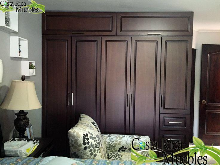 Closet caoba instalaci n seg n dise o acordado a gusto del for Ideas para puertas de closet