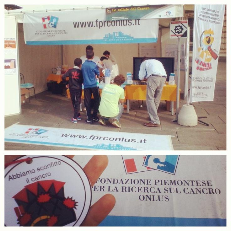 Notte dei ricercatori a #torino con la Fondazione Piemontese per la Ricerca sul Cancro @fprconlus