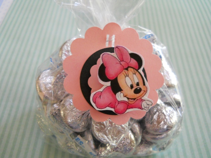 minnie mouse baby shower decoration | Baby Minnie Mouse Party Bags and Tags Set of 8 by OMGaparty