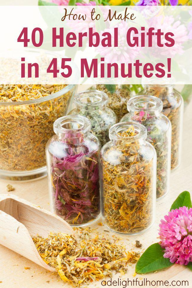 Make 40 Herbal Gifts in 45 Minutes #DIY #gift