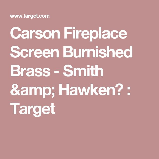 Carson Fireplace Screen Burnished Brass - Smith & Hawken™ : Target