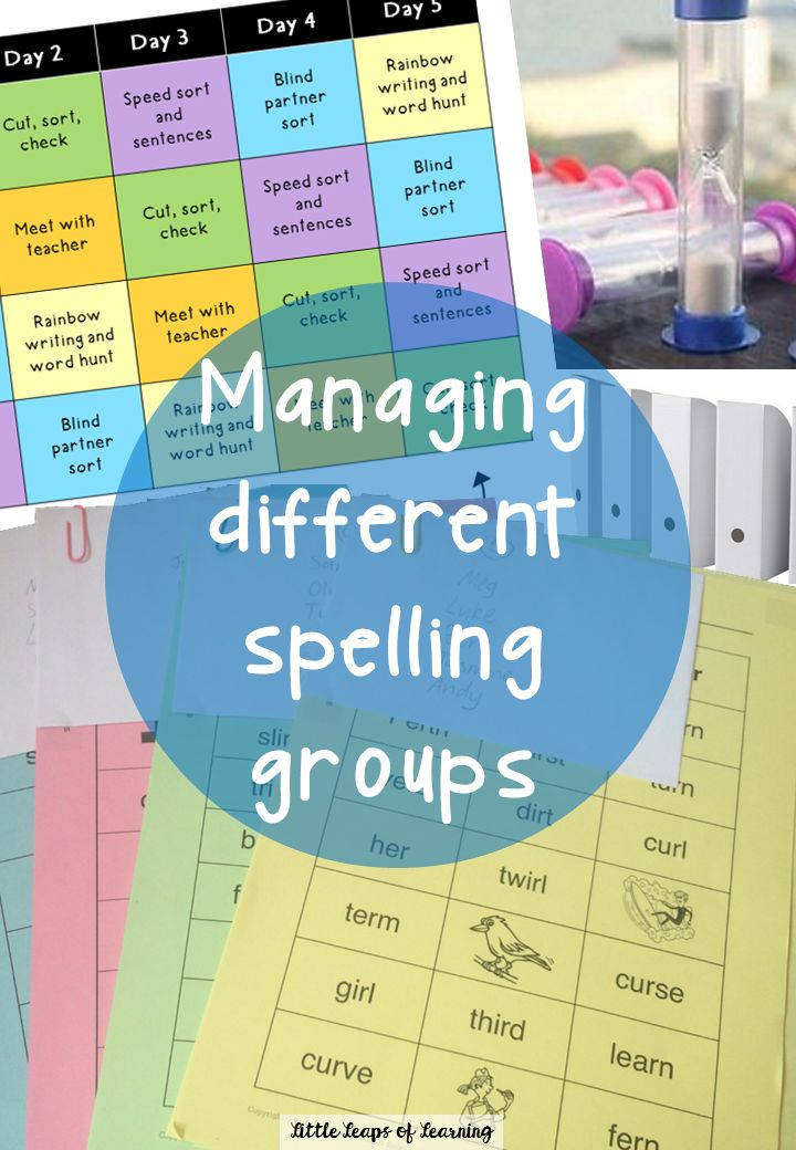 Words Their Way Organisation. How to plan and run a weekly spelling block blog post by Little Leaps of Learning