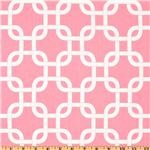 preppy mod fabric, pink link fabric