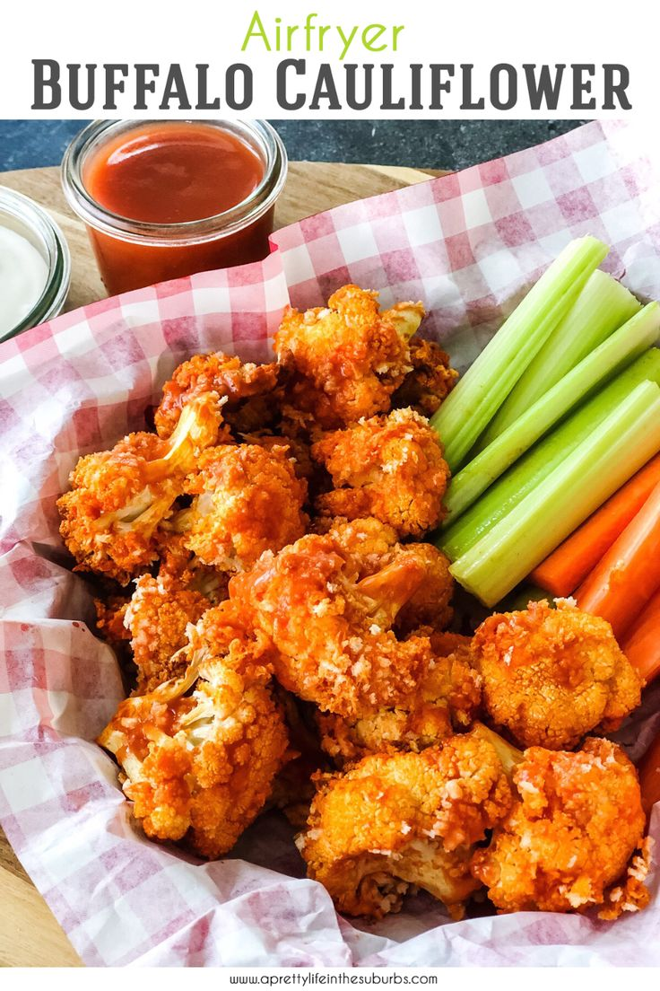 These Air Fryer Buffalo Cauliflower Bites are crunchy and