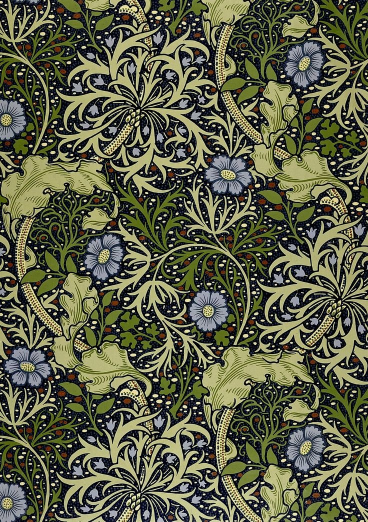 William Morris : Arts u0026 Crafts : Pinterest : William Morris, Seaweed and Flower Wallpaper