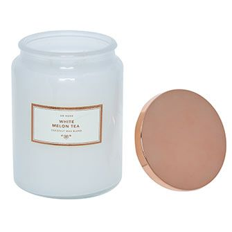 """""""DW Home""""  White Melon Tea Scented Candle 546g - TK Maxx"""