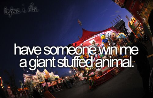 Have Someone Win Me a Giant Stuffed Animal | Bucket List