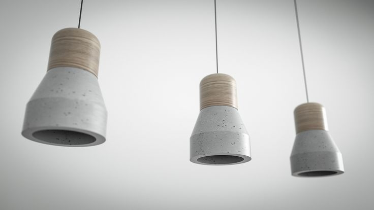 Luce lamp. Best way to combine wood and concrete