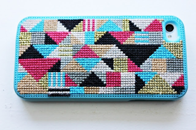 Cross stitched iPhone case