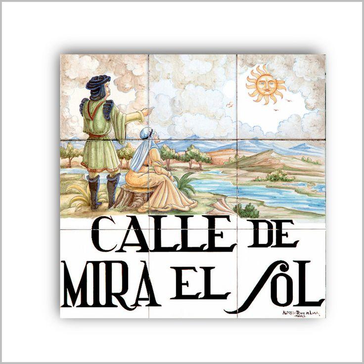 AZULEJO CALLE DE MIRA EL SOL - Las Calles del Viejo Madrid