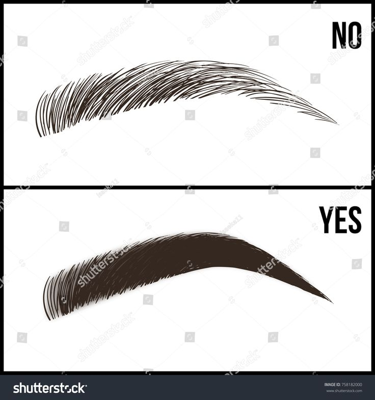 Eyebrows design. Set of well-groomed and shaggy ey…