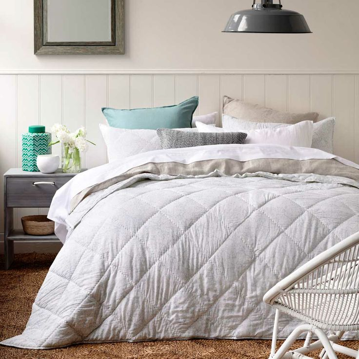 Home Republic Tranquil Coverlet - Bedroom Quilt Covers & Coverlets - Adairs Online I like the white classic bedspread with a splash of colour