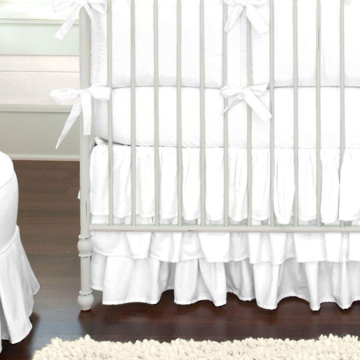 Best 25+ White crib bedding ideas on Pinterest | Baby girl ...