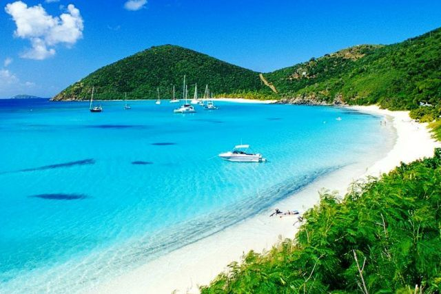 White Bay Beach...home of the famous Soggy Dollar Bar in Jost Van Dyke..BVI  It's one place you must visit!