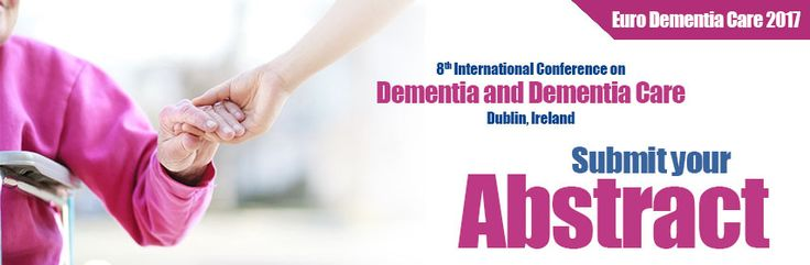 Be speaker and get recognised. Submit your abstract for Euro Dementia Care 2017. see more: http://dementia.cmesociety.com/
