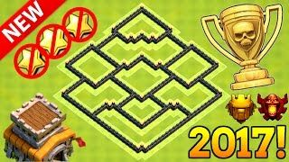 NEW TH8 ANTI 3 STAR TROPHY BASE 2017 | BEST TH8 TROPHY BASE 2017! | CLASH OF CLANS