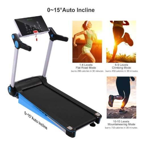 Ancheer T160 Folding Treadmill With Auto Incline 2018 Model