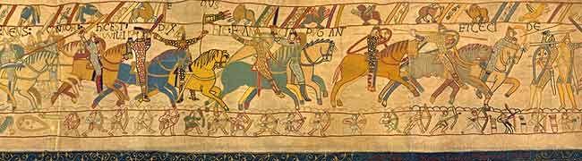 Bayeux Tapestry - meterweise englische Geschichte anläßlich der erfolgreichen Eroberung Englands durch die Normannen