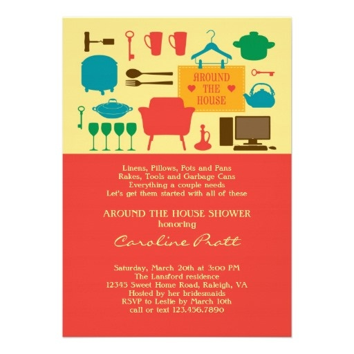 11 best around the house shower invitations images on pinterest around the house bridal shower invitation filmwisefo Images