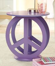 Peace sign nightstandPeace Signs, Girls Room, Tables Display, Design Bags, End Tables, Night Stands, Display Stands, Accent Tables, Signs Tables