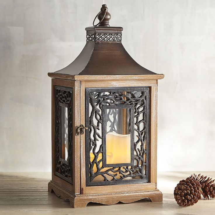 Branch Wood & Metal Lantern | Pier 1 Imports