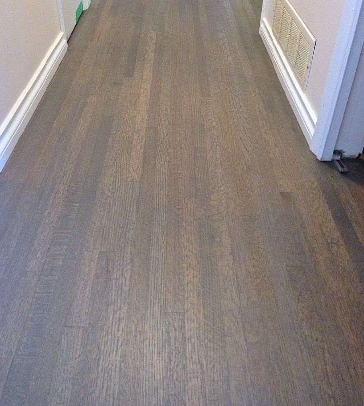 Red Oak Hardwood Floor Custom Stained A Grey Mix Colour