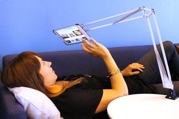 IKEA HACK: articulating tablet mount #assistive #furniture