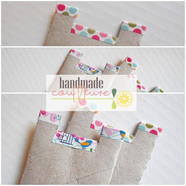 Handmade Cou[l]ture: Come fare un porta nastro con un rotolo di carta igienica   How to make a ribbon holder by a paper roll