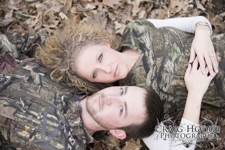 camo engagement picture - Craig Hodge Photography