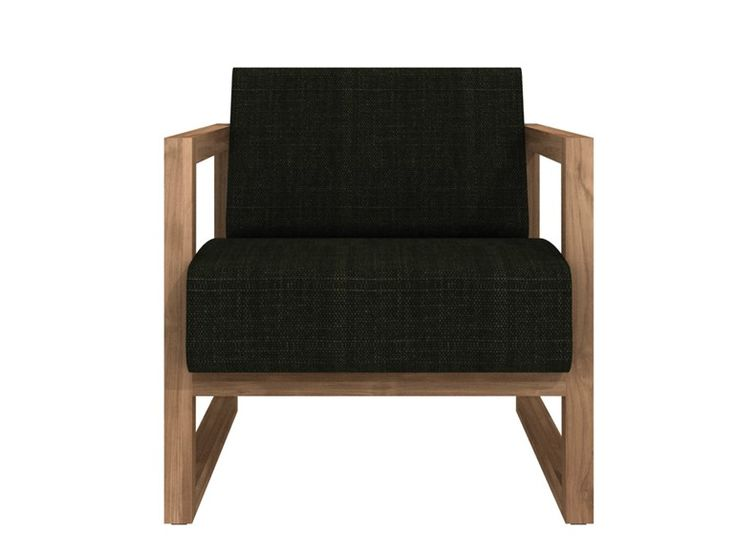 Upholstered armchair with armrests TEAK SQUARE ROOT | Armchair - Ethnicraft