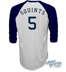 Squints shirt was all sold out online so I designed one myself on UberPrints.com $28.49 #squints #sandlot #costume